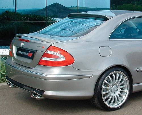 Performance Products® - Mercedes® Rear Roof Wing, No Antenna Hole, Dynamic Performance, 2006-2009 (209)