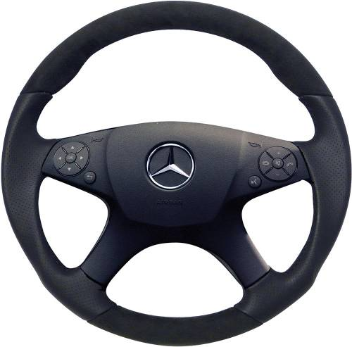Performance Products® - Mercedes® Steering Wheel, Sports Style, All Leather, Alcantara Black, C300, 2008-2010