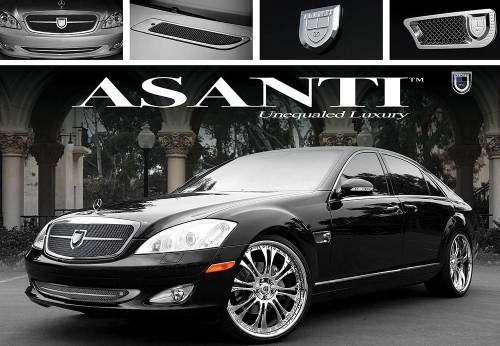 Performance Products® - Mercedes® Grille Kit by Lexani, Asanti Verona, Chrome, 2007-2008 (221)