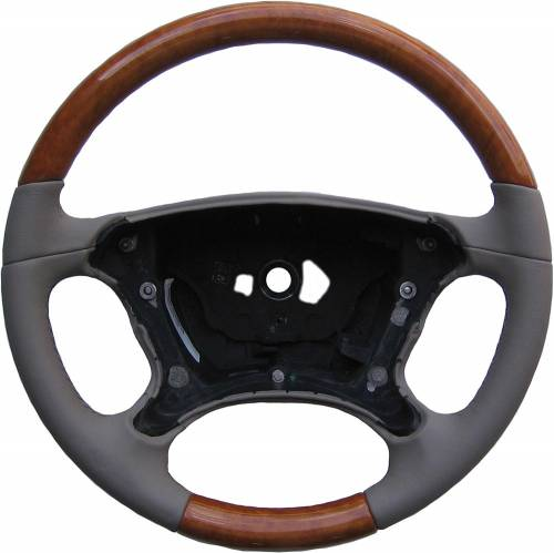 Performance Products® - Mercedes® Steering Wheel, Classic Style, Chestnut & Dark Pearl Leather, SL600/SL550, 2007-2008