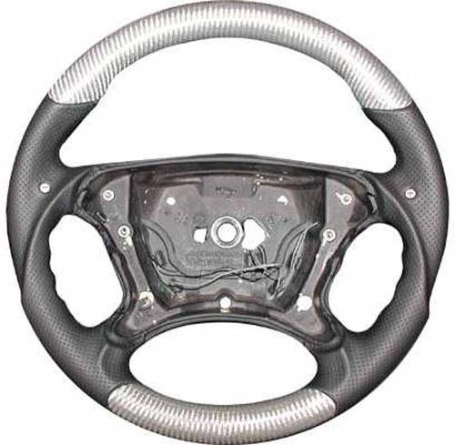 Performance Products® - Mercedes® Steering Wheel, Sports Style, Black Carbon Fiber& Black Leather, Tiptronic, 2007-2008