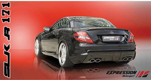 Performance Products® - Mercedes® Rear Bumper Body Kit,With Carbon Fiber Diffuser, Expression, 2005-2010 (171)