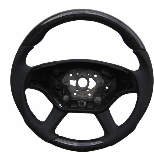 Performance Products® - Mercedes® Steering Wheel, Sports Style, AMG, Tiptronic, Ash Tree Black & Black Leather, CL63