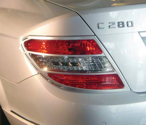 Performance Products® - Mercedes® Tail Light Rings, Chrome, 2008-2010