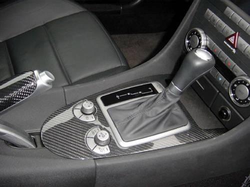 Performance Products® - Mercedes® Instrument Cluster Surround, Black Carbon Fiber, 3-Piece, 2005-2007 (171)