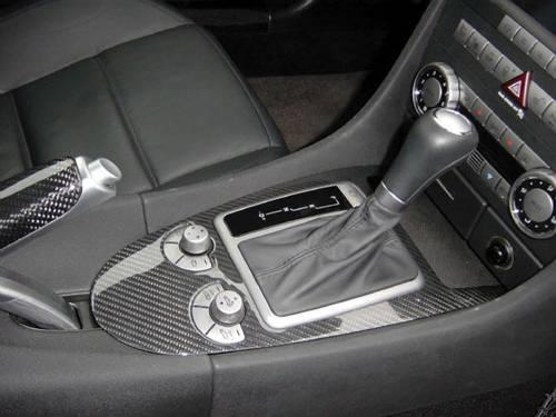 Performance Products® - Mercedes® Instrument Cluster Surround,  Silver Carbon Fiber, 3-Piece, 2005-2007 (171)