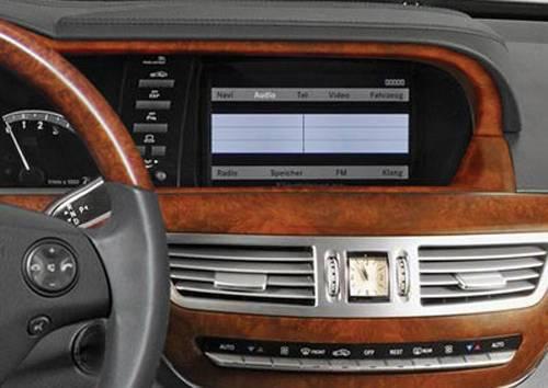 Performance Products® - Mercedes® Instrument Panel Strips Set, Matte Burlwood, 4-Piece Set, 2007 (221)