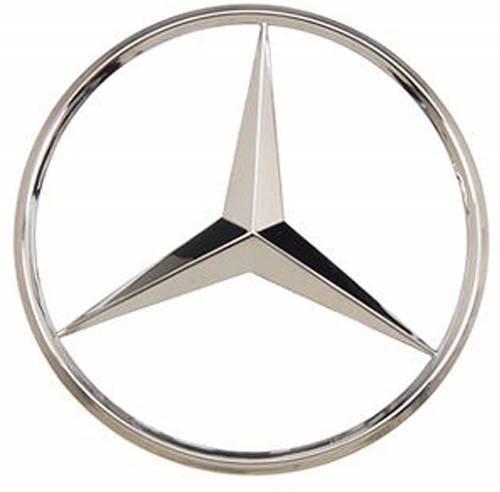 GENUINE MERCEDES - Mercedes® OEM Emblem, Deck Lid Star, Superior Chrome Finish, 2003-2005 (203)