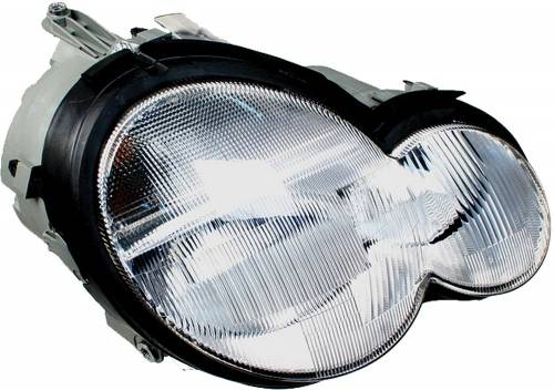 HELLA - Mercedes® Headlight Assembly, Clear, Right, 2001-2004 (203)