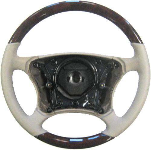 Performance Products® - Mercedes® Steering Wheel, Classic Style, Leather, Burlwood & Stone, 2003-2006