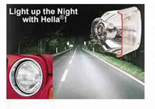 "HELLA - Headlight, Hella Vision Plus, 7"" H4 Halogen"