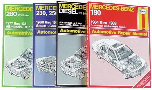 Performance Products® - Mercedes® Book, Haynes Service Manual, 1977-85 240D/300D/300TD