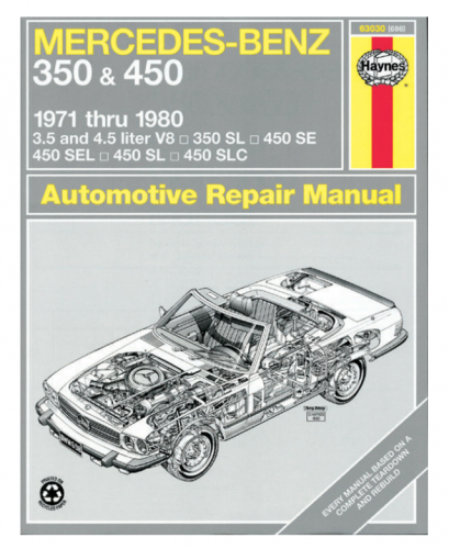 Performance Products® - Mercedes® Book, Haynes Service Manual, 350/450SL, 1971-1980