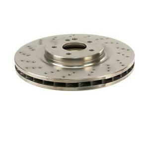 GENUINE MERCEDES - Mercedes® Brake Rotor, Front, Vented and Drilled, 1993-2002 (129)