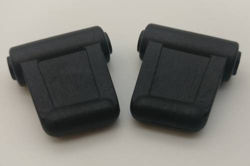 WORLD UPHOLSTERY - Mercedes® Sun Visor Clips, Male, Black, 1973-1989 (107)