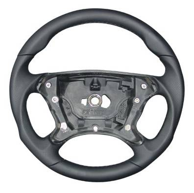Performance Products® - Mercedes® Steering Wheel, Sports Style, All Leather, Alcantara Black, MB Tiptronic, 2007-2008