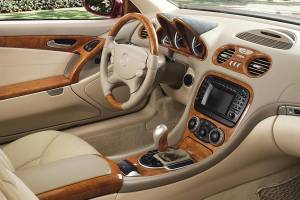 Performance Products® - Mercedes® Seat Belt Surround In C Pillar,Gloss Burlwood, Pair, 2007-2008 (221) - Image 1